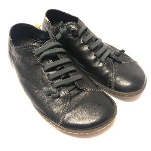 Camper Black Leather Oxford Shoes